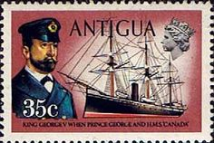 Antigua 1970 Ships and Captains George V and H M S Canada Fine Mint SG 280 Scott 252 Other West Indies and British Commonwealth Stamps HERE!