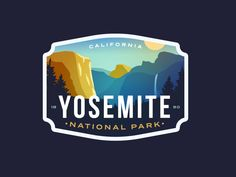 Yosemite National Park designed by Alex Eiman. Connect with them on Dribbble; Logos, Logo Branding, Yosemite National Park, National Parks, Identity, Graphic Design Print, Graphic Tees, Packaging, Parking Design