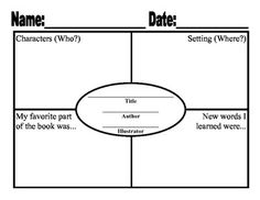 Comprehension Frayer for Literacy Centers