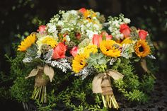 Kayla and Jordan's wedding Flowers by Two Dandelions Designs Photography Erica Mae