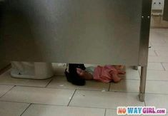 They Got The Baby On The Floor In The Public Restroom - NoWayGirl