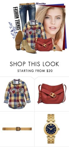 """""""nr 240 / denim & plaid shirt"""" by kornitka ❤ liked on Polyvore featuring Masquerade, H&M, Tory Burch and 5.11 Tactical"""