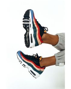 Nike Sneakers For Women : Nike AIR MAX 95 The Air Max 95 gets a colorful rework in this premium edition. Nike AIR MAX 95 The Air Max 95 gets a colorful rework Air Max 95, Nike Air Max, Cute Shoes, Me Too Shoes, Easy Style, Dream Shoes, Mode Inspiration, Mode Style, Sneakers Nike