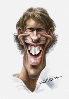 Van Nistelrooy (Dutch Soccer Player)Caricature by popular-pics.com