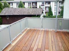 Balkongeländer Edelstahl VSG Glas Balkon Geländer in