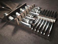 Twenty Four Place Setting Felt Lined Silverware Drawer