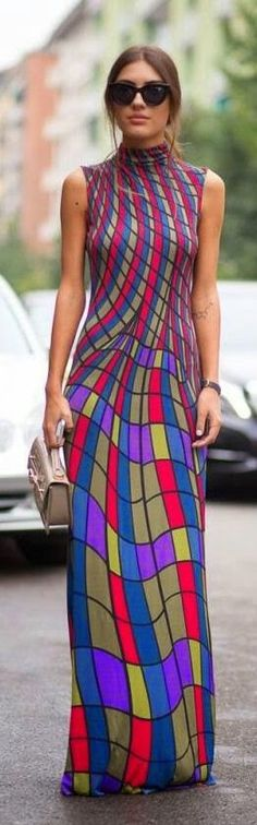 Some clothes are interesting, others challenging to look at...what do you think??? | Curating Fashion & Style: Street style maxi dress