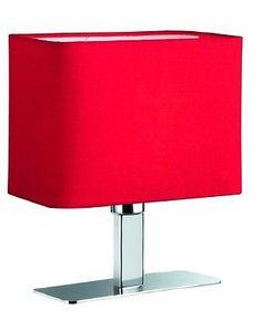 Tisch Standleuchte MING  R O T 1 Flammig E14  Rechteckige schöne Tischleuchte für viele Bereiche.  Mit E14 Sockel für LED/Glühlampen.
