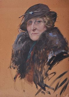 EDWARD CUCUEL (1875-1954) AMERICAN Portrait, head