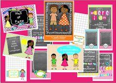 All Y'all Need: Bright Chalkboard Speech/Language Bulletin Board