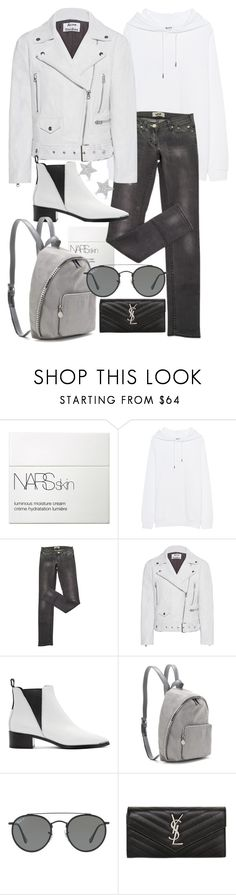 """""""Untitled #22000"""" by florencia95 ❤ liked on Polyvore featuring NARS Cosmetics, Acne Studios, STELLA McCARTNEY, Ray-Ban, Yves Saint Laurent and Diamond Star"""