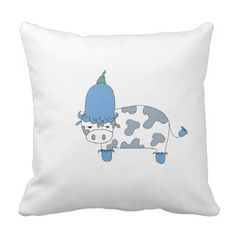 Cowbell Throw Pillow - flowers floral flower design unique style