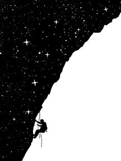 night climbing Art Print by Balazs Solti - X-Small Negative And Positive Space, Negative Space Art, Photo Images, Elements Of Design, Graphic Design Inspiration, Art Lessons, Cool Art, Illustration Art, Positivity