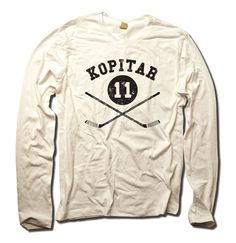 Anze Kopitar Officially Licensed NHLPA Los Angeles Men's Long Sleeve S-2XL Anze Kopitar Sticks K