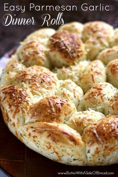 EASY PARMESAN GARLIC DINNER ROLLS