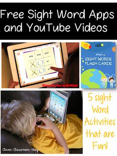5 Sight Word Activities Free Sight Word Apps plus YouTube video links