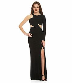 ABS by Allen Schwartz MeshInsert OneShoulder Gown #Dillards