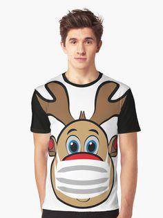 """""""Red Nose Rudi Reindeer mit Maske"""" T-Shirt von ShirtGnom   Redbubble #rudolph #the #rednose #ugly #xmas #love #christmas #germany #weihnachten #merrychristmas #christmastime #advent #weihnachtsmarkt #spreadshirt #tshirt #fashion #style #hoodie #weihnachten #fashion #kidsfashion #lebkuchen #geschenkideen #geschenke #tannenbaum #schnee #schneemann"""
