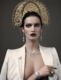 Vogue Russia April 2011  Photo: Mariano Vivanco   Style: Katerina Mukhina