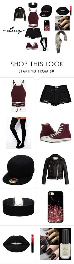"""JDS ~ Lucy"" by bts-obsessed on Polyvore featuring Mode, Boohoo, ASOS, Converse, Acne Studios, Miss Selfridge, Chrome Hearts und Lime Crime"