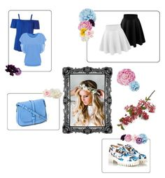 """""""Summer Time"""" by flamming-look ❤ liked on Polyvore featuring Emily Rose Flower Crowns, Alberto Guardiani, Dorothy Perkins, Gap, Gucci, Ballard Designs, Allstate Floral, Nourison and Crate and Barrel"""