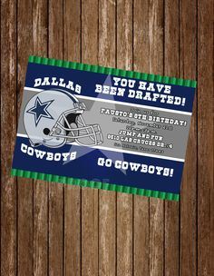 Nfl dallas cowboys birthday invitation pinterest dallas cowboys nfl dallas cowboys birthday invitation pinterest dallas cowboys tickets cowboy tickets and nfl dallas cowboys filmwisefo