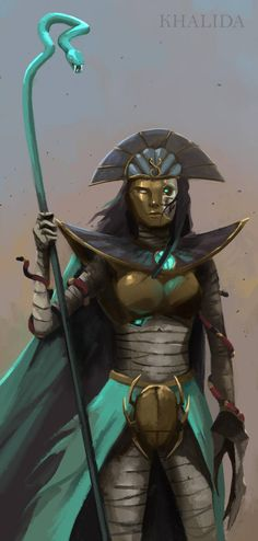 Khalida by artofrussell Fantasy Races, Character Design, Character Art, Character Inspiration, Fantasy Creatures, Tomb Kings, Warhammer Fantasy Battle, Warhammer Tomb Kings, Fantasy Monster