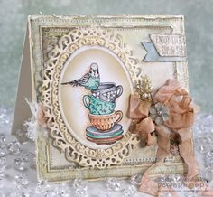 SHIPPING OCTOBER 17 Stacks, piles, hodgepodgy heaps — whatever you call them, these little vignettes of whimsical household goodies will delight the cardmaker and the recipient! Three images suit an a