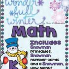 Wonderful Winter Math by Pam DAlessandro  *** Thank you in advance for leaving feedback! It helps so much to know that Teachers appreciate the Free...
