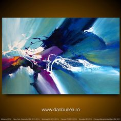 Large abstract painting by Dan Bunea Summertime by danbunea