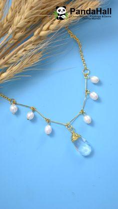 PandaHall vidéo: faire un collier avec perles et clous - DIY Schmuck Ideen Wire Jewelry, Bridal Jewelry, Jewelry Gifts, Beaded Jewelry, Jewelery, Jewelry Necklaces, Beaded Bracelets, Gold Jewelry, Zales Jewelry