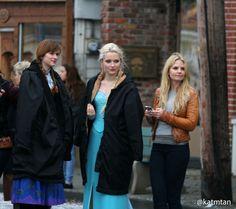 Jennifer, Georgina and Elizabeth on the set - 4 * 10 Behind the scenes. 22 October 2014
