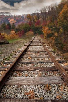 ~~Fall up the tracks | autumn, Black Mountain, North Carolina | by Todd Wall~~