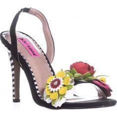 Betsey Johnson Brena Floral Heels, Black Multi, 8 US Floral Heels, Spring Step, Black Heels, Betsey Johnson, Spring Fashion, Sandals, Womens Fashion, Trending Fashion, Shoes Style