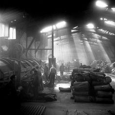 Atelier Robert Doisneau | Offical website  //   Usine Bobin à Montrouge 1945.  (   http://www.loeildelaphotographie.com/2015/02/12/book/27225/robert-doisneau-a-thirst-of-images-1945-1960