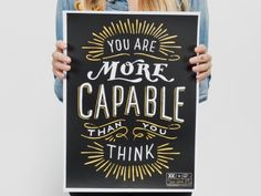 You are more capable than you think