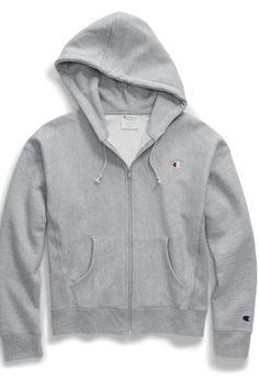 Women's Reverse Weave® Zip Hood has an all-girl, modern fit. Gray Shirt Outfit, Hoodie Outfit, Sweater Hoodie, Cute Lazy Outfits, Swag Outfits For Girls, Teenager Outfits, Cute Sweaters, Cute Shirts, Champion Clothing