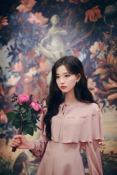 only cape dress Cape Dress, Pink Fabric, Cute Girls, Korean Fashion, Sewing Projects, Ruffle Blouse, Romantic, Seasons, Disney Princess