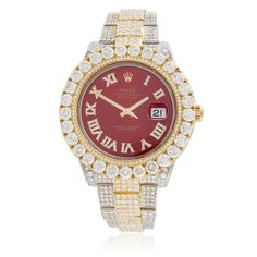 Rolex DateJust 18K Yellow Gold 29ct Diamond Automatic Men's Watch