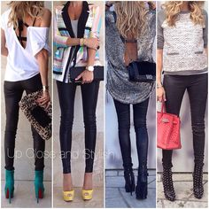 """Up Close and Stylish (@upcloseandstylish) """"You don't have to be an """"old"""" follower to know that I love leather pants (a must in each woman's…"""""""