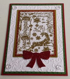 Weihnachten, Tim Holtz, ATC-Stamp, Rentier, Embossing