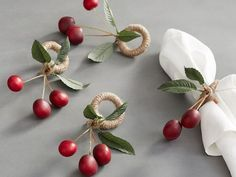 Shop Pottery Barn for gold, silver and wood napkin rings in classic and seasonal styles. Find napkin rings and place card holders perfect for entertaining. Christmas Love, Christmas Crafts, Christmas Decorations, Table Decorations, Pottery Barn, Handmade Crafts, Diy And Crafts, Diy Keychain, Ideas Party