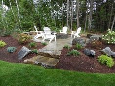 Front Yard Landscaping Discover 11 Outdoor Hideaways We Want To Escape To diy fire pit ideas indoor / outdoor / backyard Garden Fire Pit, Diy Fire Pit, Fire Pit Backyard, Outdoor Fire Pits, Backyard Plan, Water Garden, Landscaping With Rocks, Front Yard Landscaping, Inexpensive Landscaping