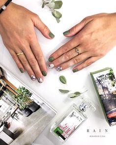 Minx Nails, Shellac Nails, Nail Manicure, Pedicure, Nail Polish Designs, Nail Art Designs, Nails And Beyond, Tape Nail Art, Modern Nails