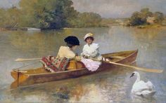Ferdinand Heilbuth ~ Boating on the Seine ~ (French: 1826-1889)