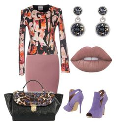 """Untitled #146"" by lapiwtiv on Polyvore featuring Karen Millen, PrimaDonna, Miss Selfridge, Versace and Pinko"
