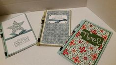 Stampin' Shimmy Style! : Covered Note pads - Seasons of giving!