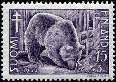 1953 Stamp Collecting, Mail Art, Animal Design, Postage Stamps, Art Forms, Polar Bear, Finland, Beast, Lion Sculpture