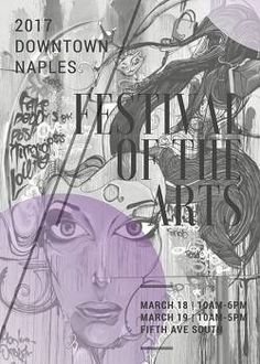 The 2017 Downtown Naples Festival of the Arts takes place along Fifth Ave South on March 18th & 19th with 230+ booths filled with art.