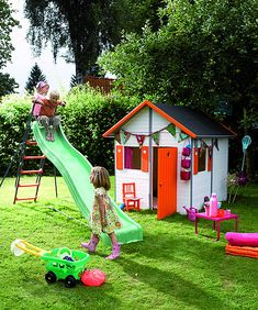 I really want my hubby to build a playhouse for our kids.